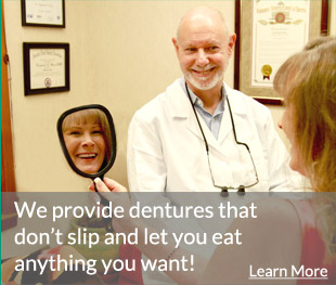 Providing dentures that don't slip.